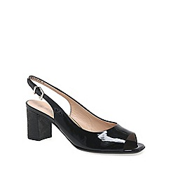 Peter Kaiser - Black patent 'Kasey' Womens Open Court Shoes