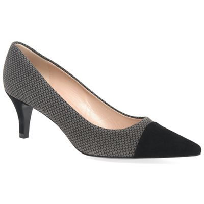 Peter Kaiser Valona Bow Pointed Toe Court Shoes Black