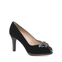 Peter Kaiser - Black 'Erne' Womens Peep Toe Court Shoes