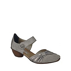 Rieker - Grey 'Precious' Womens Open Court Shoes