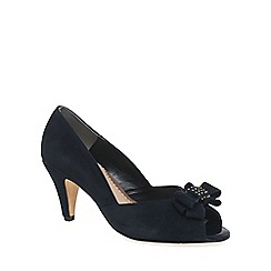 Van Dal - Navy 'Abbey' Womens Peep Toe Court Shoes