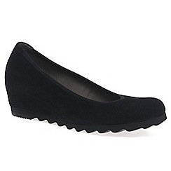 Gabor - Black 'Request' Womens Modern Wedge Court Shoes