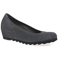 Gabor - Dark grey 'Request' Womens Modern Wedge Court Shoes