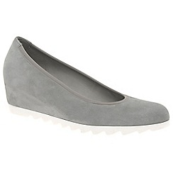 Gabor - Grey 'Request' womens modern wedge court shoes