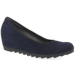 Gabor - Dark purple 'Request' Womens Modern Wedge Court Shoes