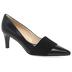 Peter Kaiser - Black 'Beka' Womens Black Leather Pointed Court Shoes