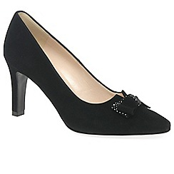 Peter Kaiser - Black 'Tanja' Womens Black Suede Court Shoes