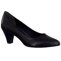 Marco Tozzi - Black 'Bramble' Womens Dress Court Shoes