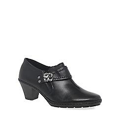 Rieker - Black 'Vibe' womens high cut court shoes