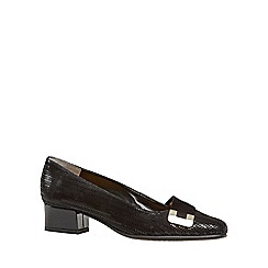 Van Dal - Black patent 'Duchess' womens court shoes