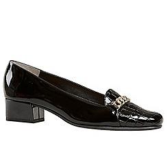 Van Dal - Black patent 'Castile' womens wide fit court shoes
