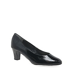 Van Dal - Black patent 'Watt' womens dress court shoes