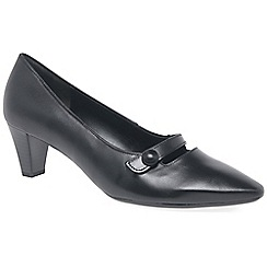Gabor - Black 'Desiree' womens court shoes