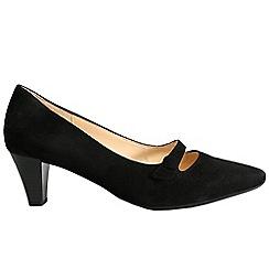 Gabor - Near black 'Desiree' Womens Court Shoes