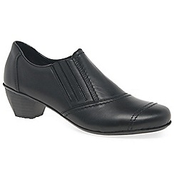 Rieker - Black 'Focus' Womens Black Leather Trouser Shoes