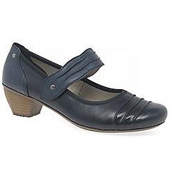 Rieker - Navy 'Stage' Womens Court Shoes
