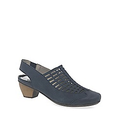 Rieker - Blue 'Grid' Womens Open Court Shoes