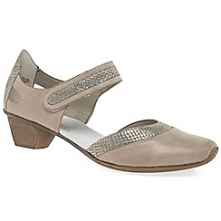Rieker - Beige 'Taint' Womens Open Court Shoes