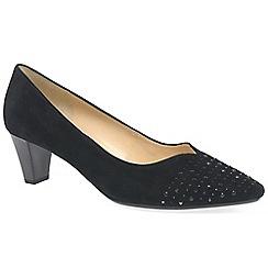 Gabor - Black suede 'Bathurst' women's court shoes