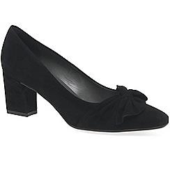 Peter Kaiser - Black suede 'Gesina' womens dress court shoes