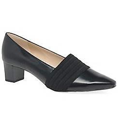 Peter Kaiser - Black leather 'betzi' womens court shoes