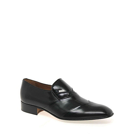 Paco Milan - Black +Valencia+ Mens Formal Slip On Shoes