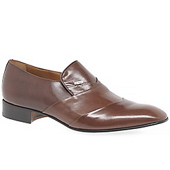 Paco Milan - Tan 'Valencia' mens formal slip on shoes