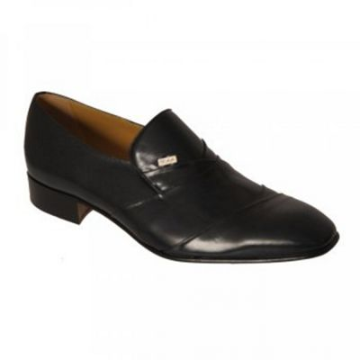 Navy Valencia Mens Formal Slip On Shoes