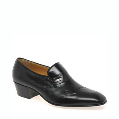 Black Cuba Mens Slip On Shoes