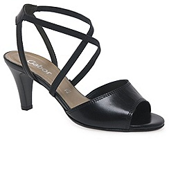 Gabor - Black 'Elan' black leather sandal