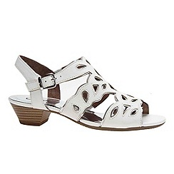 Gabor - White 'Castle' low cut out sandals