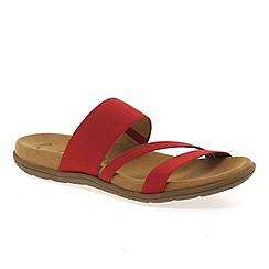 Gabor - Red 'Tomcat' Modern Sporty Sandals
