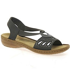 Rieker - Grey 'Glitz' Womens Casual Sandals