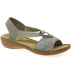 Rieker - Beige 'Crystal' womens casual sandals