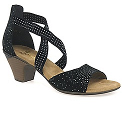 Rieker - Black 'Flint' womens casual sandals