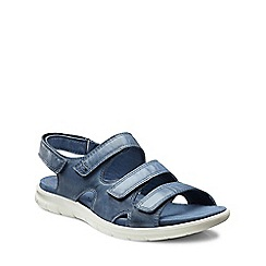 Ecco - Blue 'Bab Three Strap' Womens Sandals