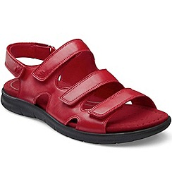 Ecco - Red 'Bab Three Strap' Womens Sandals