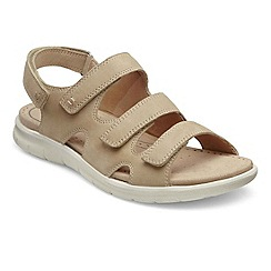 Ecco - Beige 'Bab Three Strap' Womens Sandals