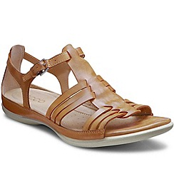 Ecco - Brown 'Flash' Womens Buckle Leather Sandals
