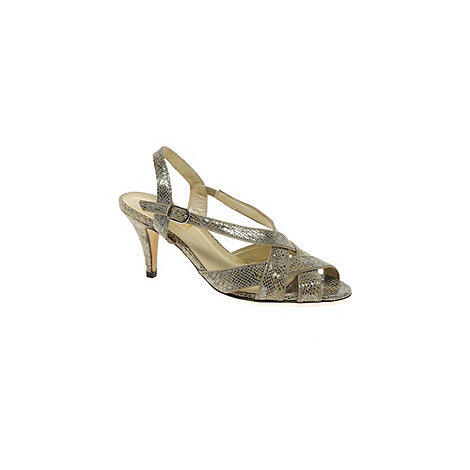 Van Dal - Metallic +Rushall+ Womens Slingback Sandals