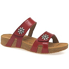 Josef Seibel - Red 'tonga' womens casual sandals