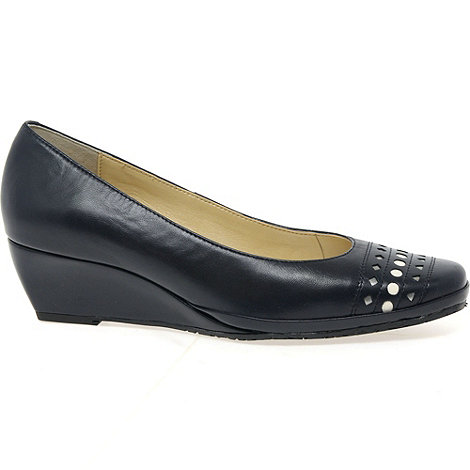 Van Dal - Navy +Pacifica+ Womens Wedge Heel Court Shoes