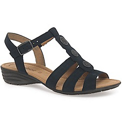 Gabor - Navy 'Eartha' womens casual t-bar sandals