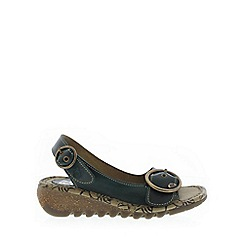 Fly London - Dark green 'Tram' Womens Casual Sandals