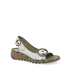 Fly London - White 'Tram' Womens Casual Sandals