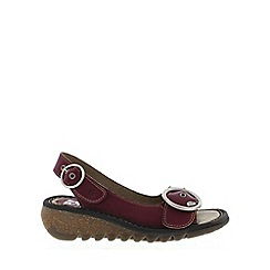 Fly London - Maroon 'Tram' Womens Casual Sandals