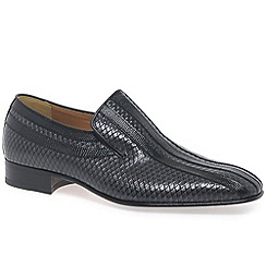 Paco Milan - Grey 'Almansa' Mens Croc Leather Loafers