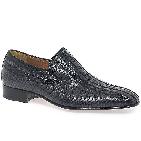 Paco Milan - Grey +Almansa+ Mens Croc Leather Loafers