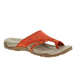 Merrell - Orange 'Terran Post 'womens clay red sandals