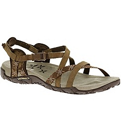 Merrell - Brown 'Terran Lattice' womens nubuck sandals